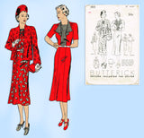 Butterick 7815: 1930s Misses Jacket & Dress Size 36 Bust Vintage Sewing Pattern