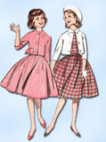 1960s Vintage Butterick Sewing Pattern 9641 Sub Teen Girls Dress & Jacket Sz 10 - Vintage4me2