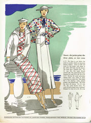 1930s Digital Download Butterick Summer 1935 Fashion Magazine Pattern Book Catalog