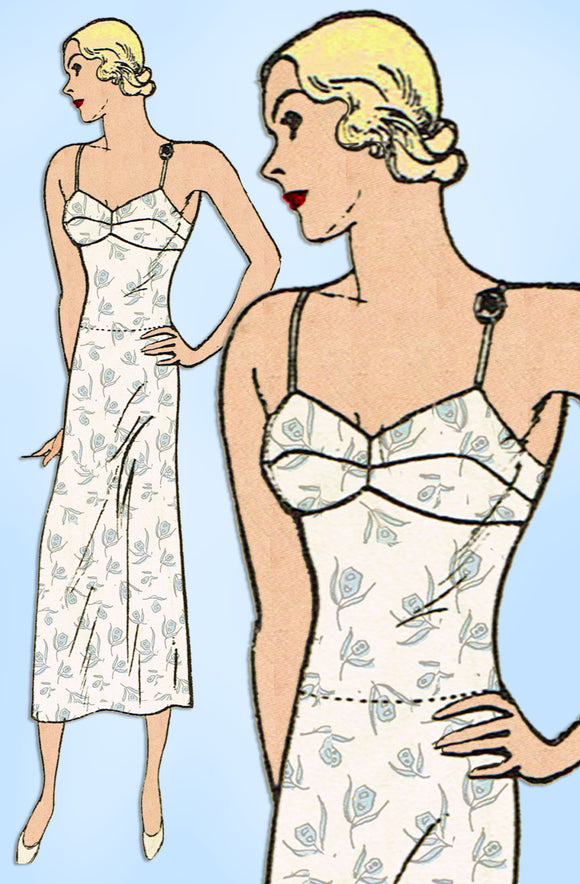 Butterick 4779: 1930s Misses Slip w Attached Panties 32 B Vintage Sewing Pattern - Vintage4me2