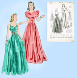 Butterick 7713: 1930s Vintage Sewing Pattern Stunning Evening Gown 32 B vintage4me2