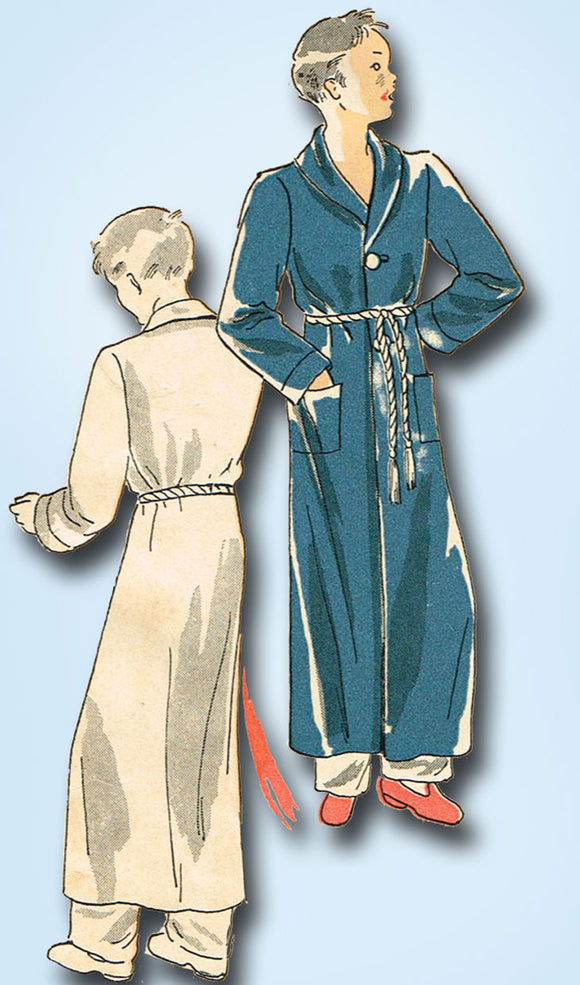 1930s Vintage Du Barry Sewing Pattern 1033 Little Boys Depression Era Robe Sz 12 - Vintage4me2