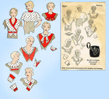 Du Barry 703A: 1930s Uncut Misses Set of Collars Size Med Vintage Sewing Pattern