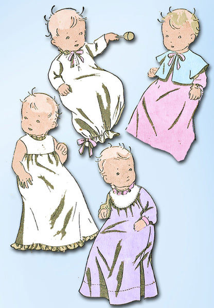 1930s Vintage Du Barry Sewing Pattern 895 Uncut Infants Layette Set ORIGINAL - Vintage4me2