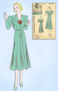 1930s VTG Hollywood Starlet Sewing Pattern 1374 Uncut Carole Lombard Dress 36 B
