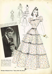 RARE Hollywood Sewing Pattern 1967 Gone with the Wind Civil War Gown Size 34 B