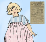 Ladies Home Journal 3144: 1920s Baby Girls Dress Sz 6 mos Vintage Sewing Pattern