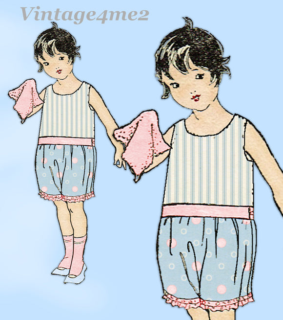 Ladies Home Journal 1885: 1920s Baby Girls Bloomers Sz 2 Vintage Sewing Pattern