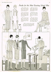 1920s VTG Ladies Home Journal Sewing Pattern 5098 FF Misses Flapper Dress Sz 36B