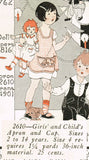 1920s Rare Ladies Home Journal Sewing Pattern 2610 Toddler Girls Apron & Cap Sz4 - Vintage4me2