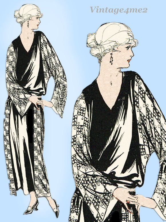 Ladies Home Journal 3005: 1920s Uncut Dinner Dress Sz 40B Vintage Sewing Pattern