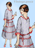 Ladies Home Journal 3282: 1920s Uncut Misses Dress 34 B Vintage Sewing Pattern