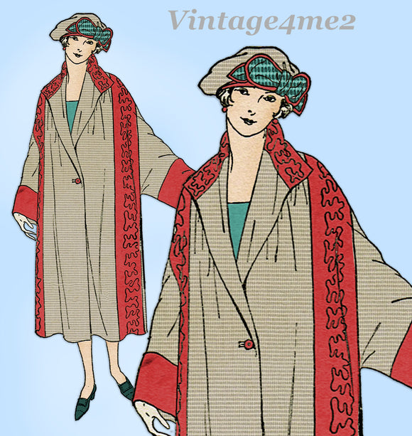 Ladies Home Journal 3362: 1920s Misses Wrap Coat Size MED Vintage Sewing Pattern