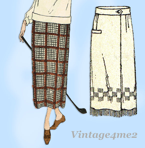 Ladies Home Journal 3481: 1920s Uncut Misses Skirt Sz 28W Vintage Sewing Pattern