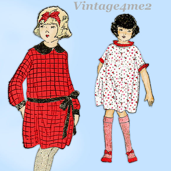 Ladies Home Journal 3493: 1920s Cute Baby Girls Dress Sz2 Vintage Sewing Pattern