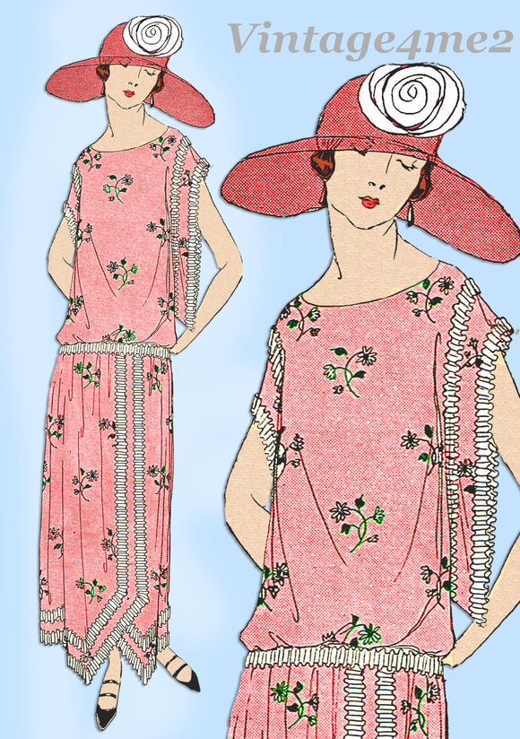 Ladies Home Journal 3508: 1920s Uncut Day Dress Size 40 B Vintage Sewing Pattern