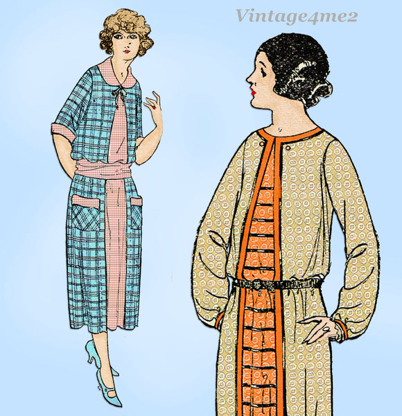 Ladies Home Journal 3515: 1920s Uncut Misses Dress Sz 34B Vintage Sewing Pattern