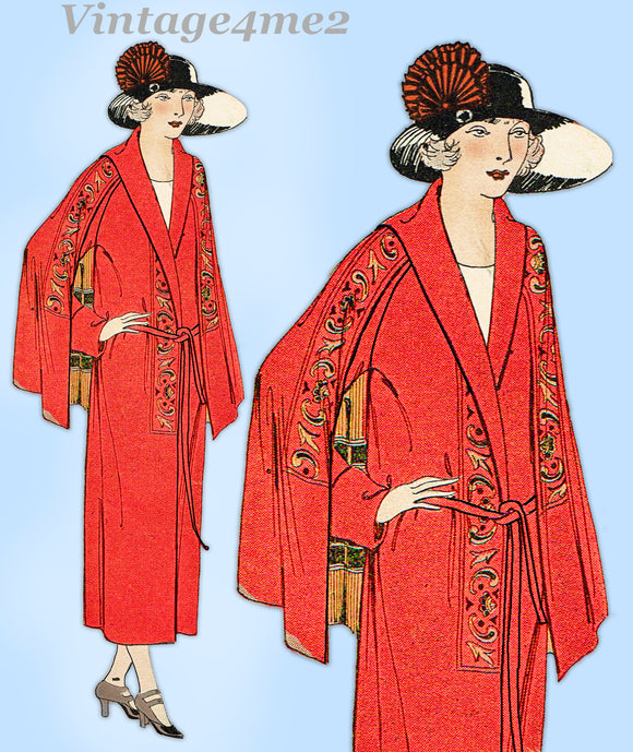 Ladies Home Journal 3620: 1920s Uncut Misses Coat Sz 36B Vintage Sewing Pattern