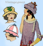 Ladies Home Journal 3670: 1920s Uncut Toddler Girls Hat Vintage Sewing Pattern