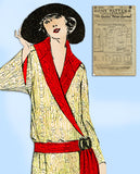 Ladies Home Journal 3676: 1920s Rare Uncut Coat Size 38 B Vintage Sewing Pattern