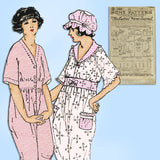 Ladies Home Journal 3696: 1920s Misses Pajamas & Cap 36B Vintage Sewing Pattern