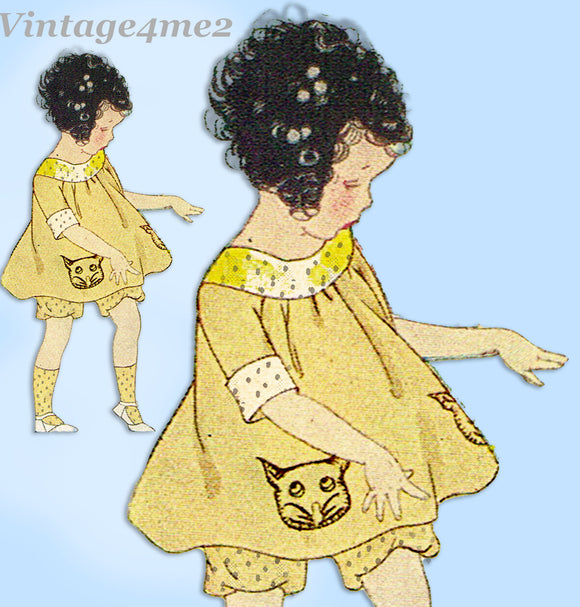 Ladies Home Journal 3700: 1920s Girls Bloomer Dress Sz 4 Vintage Sewing Pattern