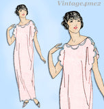 Ladies Home Journal 3707: 1920s Uncut Easy Misses Nightgown 34 Bust Sewing Pattern