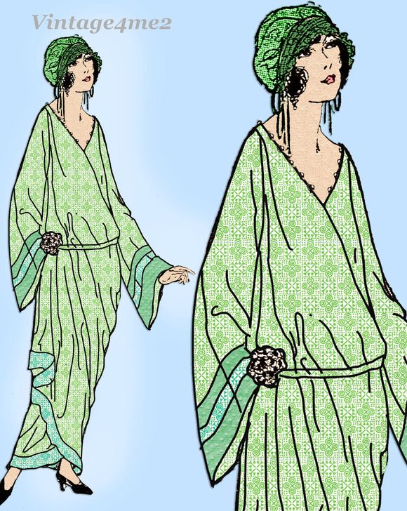 Ladies Home Journal 3710: 1920s Uncut Draped 36B Negligee Vintage Sewing Pattern