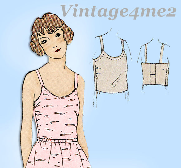 Ladies Home Journal 3720: 1920s Uncut Misses Brassiere Sz 34 Bust Sewing Pattern
