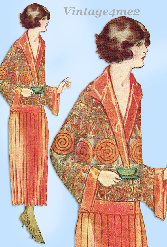 Ladies Home Journal 3730: 1920s Rare Uncut Houseocat 32 B Vintage Sewing Pattern