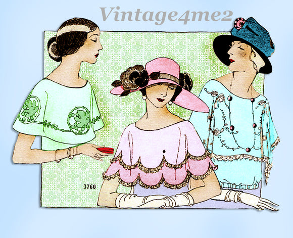 Ladies Home Journal 3760: 1920s Uncut Misses Collar Set Vintage Sewing Pattern