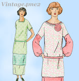 Ladies Home Journal 3785: 1920s Misses Uncut Dress Sz 34B Vintage Sewing Pattern
