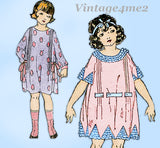 Ladies Home Journal 3815: 1920s Toddler Girls Dress Sz 4 Vintage Sewing Pattern