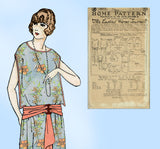 Ladies Home Journal 3872: 1920s Uncut Evening Dress 40 B Vintage Sewing Pattern