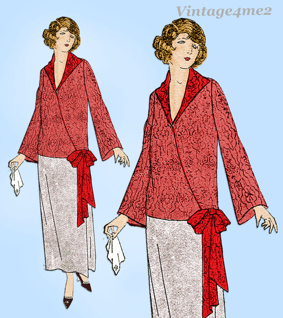 Ladies Home Journal 3898: 1920s Uncut Misses Blouse 44 B Vintage Sewing Pattern
