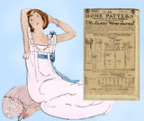 Ladies Home Journal 3925: 1920s Uncut Plus Size Nightgown 44 Bust Sewing Pattern