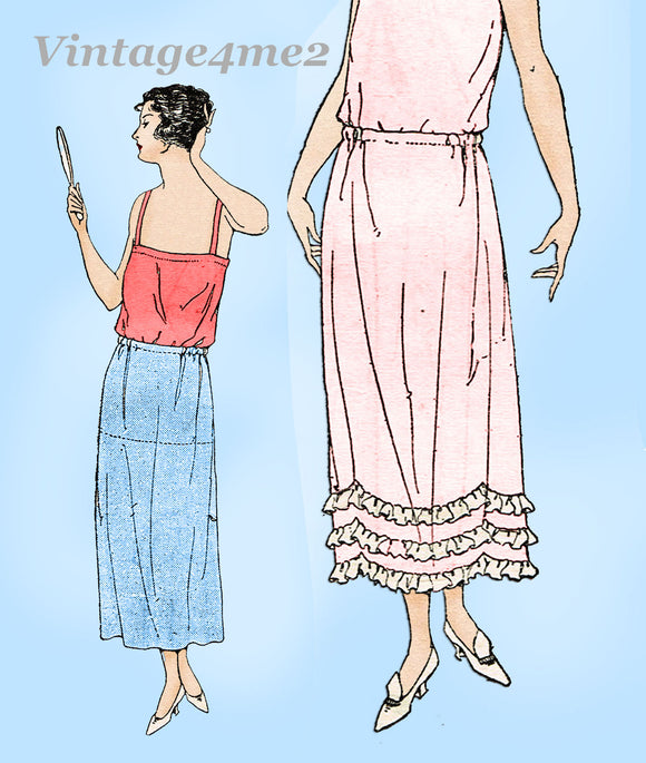 Ladies Home Journal 3927: 1920s Uncut Misses Petticoat Sz 24 W Vintage Sewing Pattern