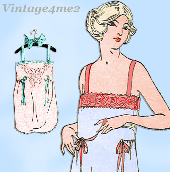 Ladies Home Journal 3933: 1920s Uncut Combination Undies Sz 44 B Sewing Pattern