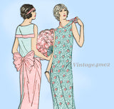 Ladies Home Journal 3959: 1920s Uncut Evening Gown 36 B Vintage Sewing Pattern