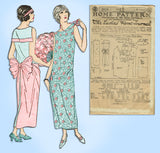 Ladies Home Journal 3959: 1920s Uncut Evening Gown 34 B Vintage Sewing Pattern