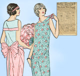 Ladies Home Journal 3959: 1920s Uncut Evening Gown 40 B Vintage Sewing Pattern