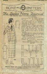 1920s VTG Ladies Home Journal Sewing Pattern 4453 Uncut Misses Slender Dress 36B