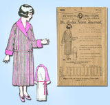 1920s Antique Ladies Home Journal Sewing Pattern 4608 Toddler Girls Robe Size 6