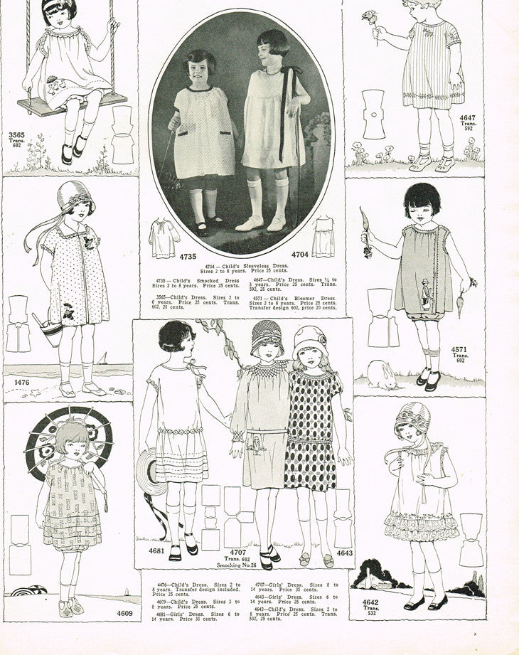 1920s VTG Ladies Home Journal Sewing Pattern 4707 Uncut Girls ...