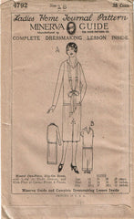 1920s VTG Ladies Home Journal Sewing Pattern 4792 Uncut Misses Flapper Dress 34B