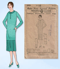 1920s VTG Ladies Home Journal Sewing Pattern 4819 Uncut Misses Flapper Dress 34B