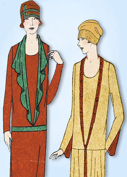 1920s VTG Ladies Home Journal Sewing Pattern 4914 Uncut Womens Flapper Dress 38B
