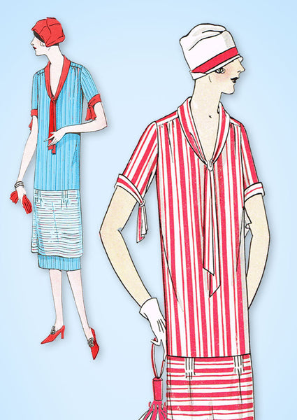 1920s VTG Ladies Home Journal Sewing Pattern 4997 Uncut Misses Flapper Dress 38B