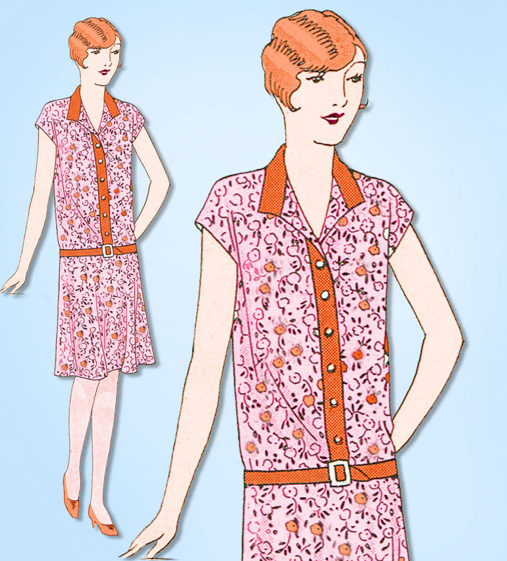 1920s VTG Ladies Home Journal Sewing Pattern 5066 Uncut Girls Flapper Dress Sz 8