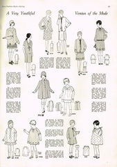 1920s VTG Ladies Home Journal Sewing Pattern 5091 FF Girls Flapper Dress Size 10